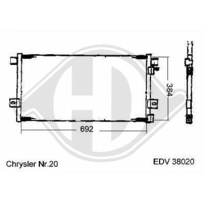 Radiateur, refroidissement du moteur - HDK-Germany - 77HDK8261207