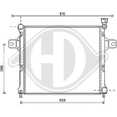 Radiateur, refroidissement du moteur - HDK-Germany - 77HDK8261213