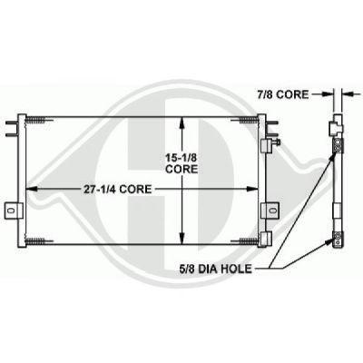 Condenseur, climatisation - Diederichs Germany - 8262100
