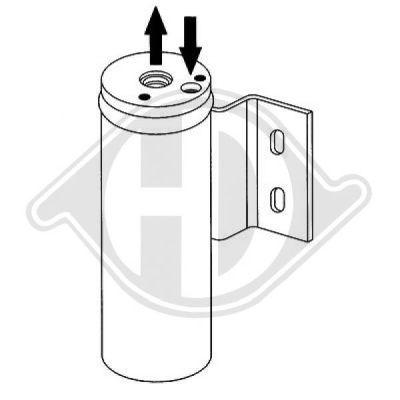 Filtre déshydratant, climatisation - Diederichs Germany - 8262105