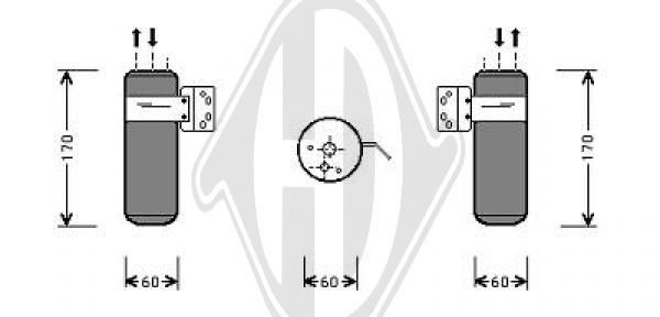 Filtre déshydratant, climatisation - Diederichs Germany - 8262106