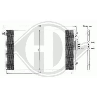 Condenseur, climatisation - Diederichs Germany - 8262200