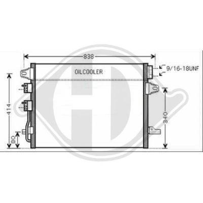 Condenseur, climatisation - Diederichs Germany - 8262202