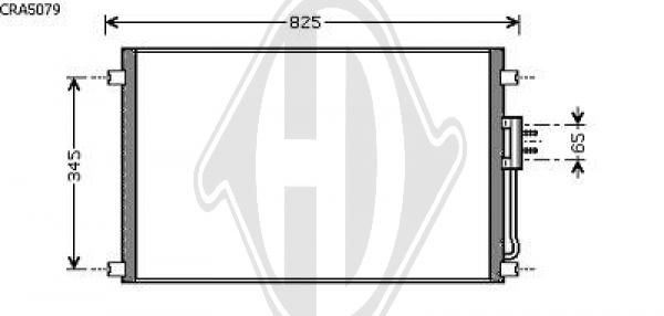 Condenseur, climatisation - Diederichs Germany - 8262203