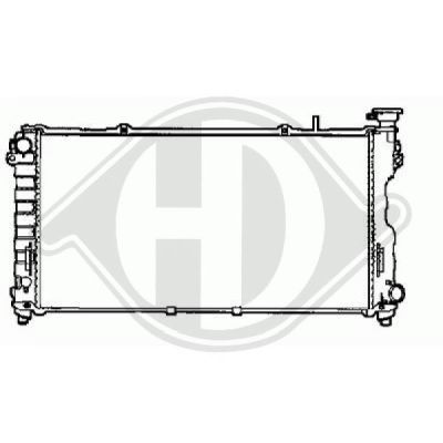 Radiateur, refroidissement du moteur - Diederichs Germany - 8262205