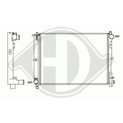 Radiateur, refroidissement du moteur - HDK-Germany - 77HDK8262207