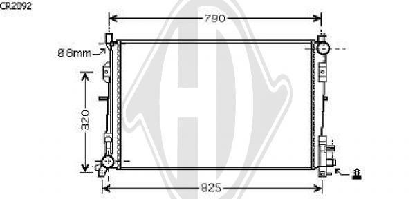 Radiateur, refroidissement du moteur - Diederichs Germany - 8262208
