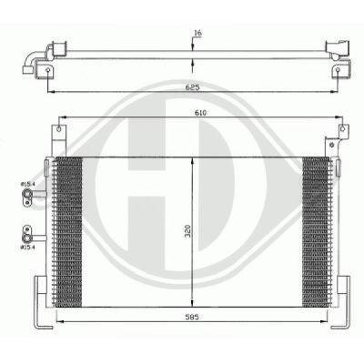 Condenseur, climatisation - Diederichs Germany - 8263000