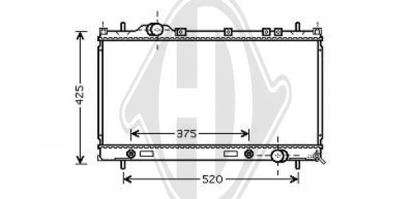 Radiateur, refroidissement du moteur - Diederichs Germany - 8263002