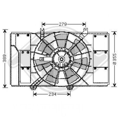 Ventilateur, condenseur de climatisation - Diederichs Germany - 8263003