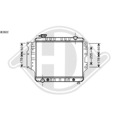 Radiateur, refroidissement du moteur - HDK-Germany - 77HDK8267505