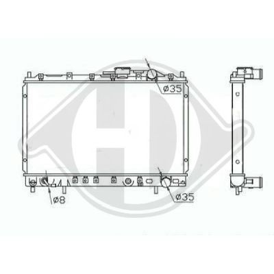 Radiateur, refroidissement du moteur - Diederichs Germany - 8274000