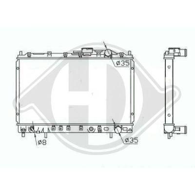 Radiateur, refroidissement du moteur - Diederichs Germany - 8274001