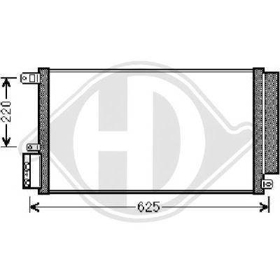 Condenseur, climatisation - Diederichs Germany - 8300500