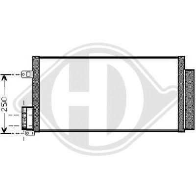 Condenseur, climatisation - Diederichs Germany - 8300501