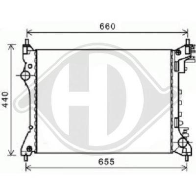 Radiateur, refroidissement du moteur - Diederichs Germany - 8300505