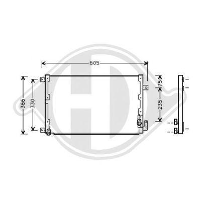 Condenseur, climatisation - Diederichs Germany - 8302501