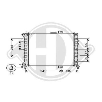 Radiateur, refroidissement du moteur - HDK-Germany - 77HDK8302504