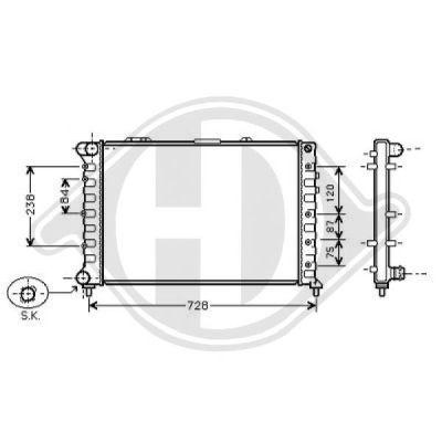 Radiateur, refroidissement du moteur - HDK-Germany - 77HDK8302505