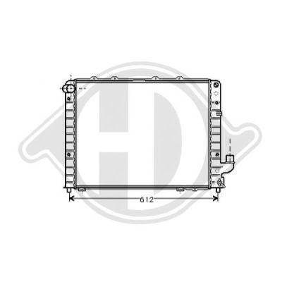 Radiateur, refroidissement du moteur - Diederichs Germany - 8302506