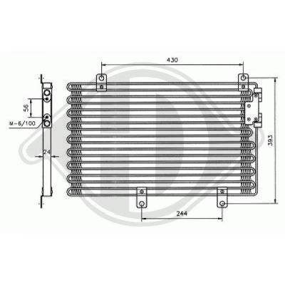 Condenseur, climatisation - Diederichs Germany - 8304000