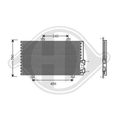 Condenseur, climatisation - Diederichs Germany - 8304001