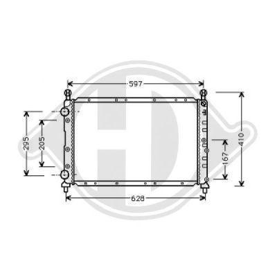 Radiateur, refroidissement du moteur - Diederichs Germany - 8304011