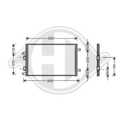 Condenseur, climatisation - Diederichs Germany - 8304100