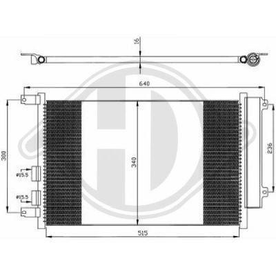 Condenseur, climatisation - Diederichs Germany - 8304101