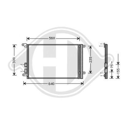 Condenseur, climatisation - Diederichs Germany - 8305002