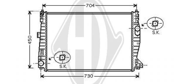 Radiateur, refroidissement du moteur - Diederichs Germany - 8305202