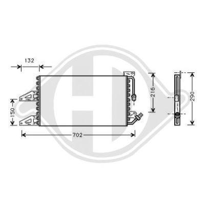 Condenseur, climatisation - Diederichs Germany - 8321202