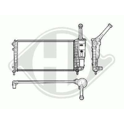 Radiateur, refroidissement du moteur - Diederichs Germany - 8321301
