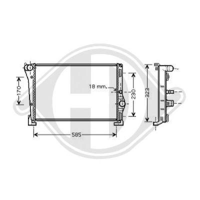 Radiateur, refroidissement du moteur - Diederichs Germany - 8321302