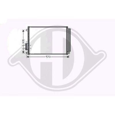 Condenseur, climatisation - Diederichs Germany - 8340500