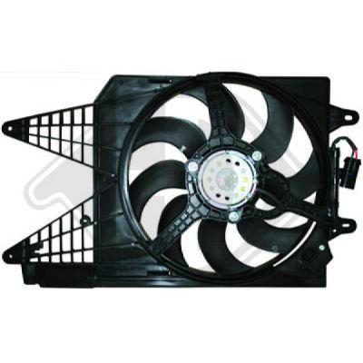 Ventilateur, condenseur de climatisation - Diederichs Germany - 8340501
