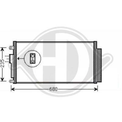 Condenseur, climatisation - Diederichs Germany - 8340502