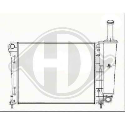 Radiateur, refroidissement du moteur - Diederichs Germany - 8340505