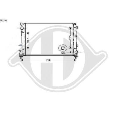 Radiateur, refroidissement du moteur - Diederichs Germany - 8340507