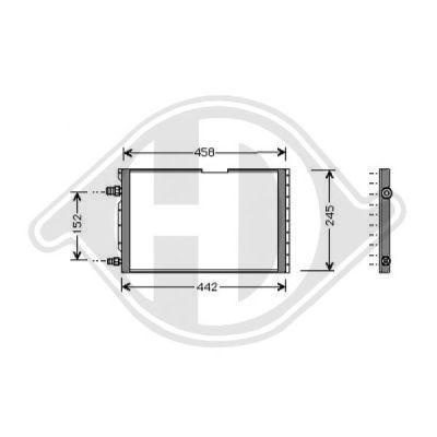 Condenseur, climatisation - HDK-Germany - 77HDK8343200