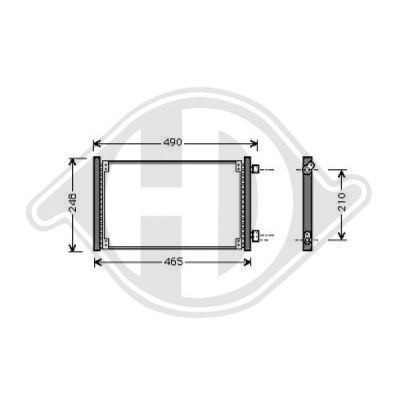 Condenseur, climatisation - Diederichs Germany - 8343300