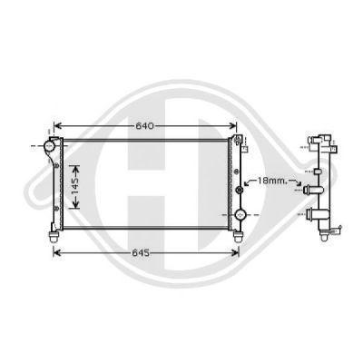 Radiateur, refroidissement du moteur - Diederichs Germany - 8343400