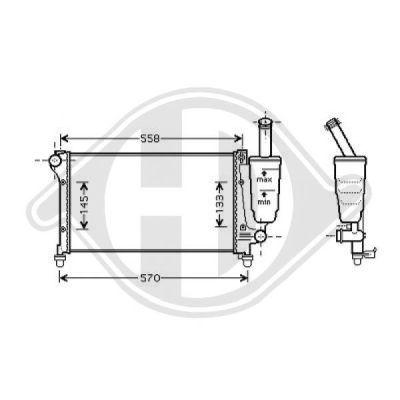 Radiateur, refroidissement du moteur - Diederichs Germany - 8343401
