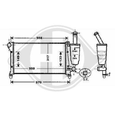 Radiateur, refroidissement du moteur - Diederichs Germany - 8343403