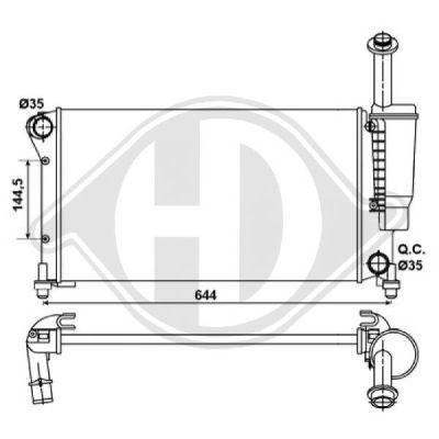 Radiateur, refroidissement du moteur - Diederichs Germany - 8343404