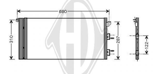 Condenseur, climatisation - Diederichs Germany - 8343405