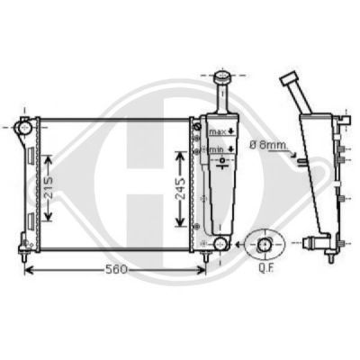 Radiateur, refroidissement du moteur - HDK-Germany - 77HDK8343505
