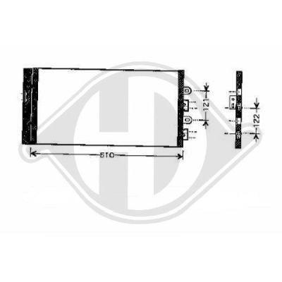 Condenseur, climatisation - Diederichs Germany - 8345180