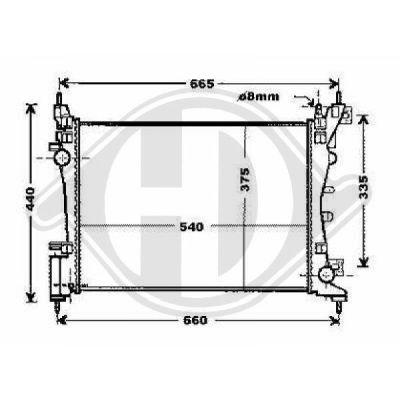 Radiateur, refroidissement du moteur - Diederichs Germany - 8345203