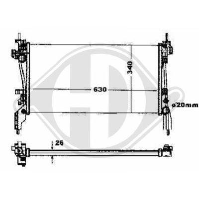 Radiateur, refroidissement du moteur - HDK-Germany - 77HDK8345204